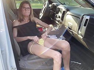 Skinny granny video porn Skinny granny flashing her hairy pussy
