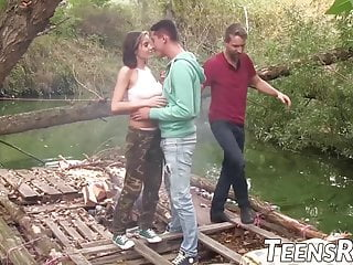 Lesions in the breast Big breasted teenie fucks with two studs in the forest