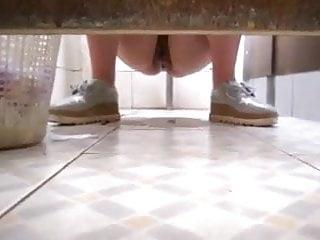 Girls peeing on the toilet videos Girl peeing at public toilet