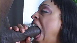 Bald power-house with big black cock balls busty ebony whore