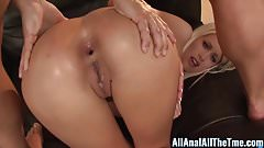 Blonde Babe Riley Jenner Gets Hot Anal Creampie in Ass!