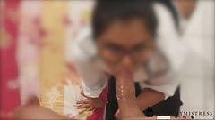 Niegrzeczna sekretarka zostaje ukarana przez swojego szefa