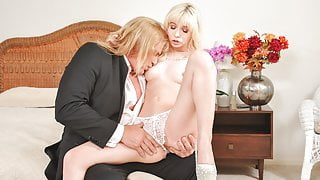 DADDY4K. Naive gal cheats on future husband with his daddy