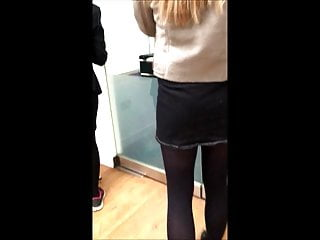 Candid office upskirt photos - Candid office teen miniskirt