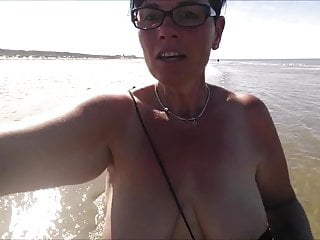 Wifes cunt lips on display Mature breasts on display