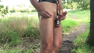 Booted outdoors
