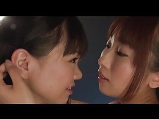 Rough lesbian strap on tube Japanese lesbian strap on lovers
