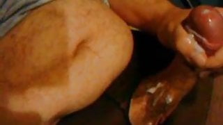 Wichsen in schwarzer strumpfhose 2