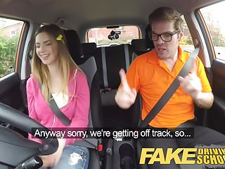 Fake penis exam - Fake driving school big tits italian student fucks for exam
