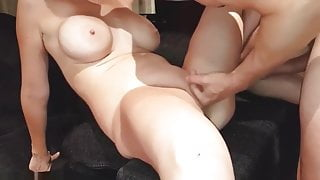 I fuck her and she squirts like crazy and then i cum in her