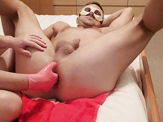 Videos wanking my cock Plump femdom wife fisted my ass and wank my cock to cumshot