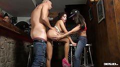 CHICAS LOCA - Cuckold fun in a bar with wild Latina babes
