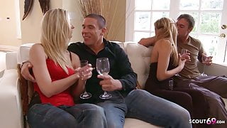 Guys Swap Their Hot MILF Wives for Swinger Foursome Sex