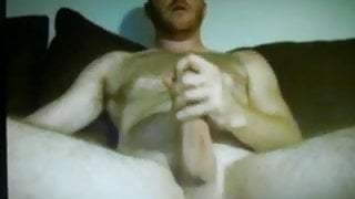 hung hairy daddy jerking big dick on cam