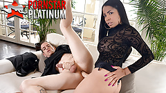 Latina Havana Ginger pegging her husband with a strapon