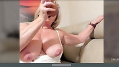 Sexy blonde mature delicious body masturbation whit dildo