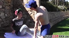 Outdoor anal fucking with skinny and young homosexuals