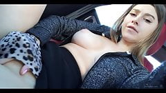 Playing with my pussy in the car live