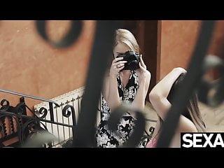 Hot lesbian sex fingering Sexy blonde has hot lesbian sex with stunning girlfriend