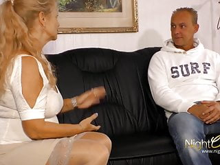 Man boob video - Milf with big boobs fuck younger man