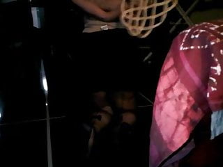 Heavy pantyhose bondage Heavy blowjob with carpet beater for submissive wife