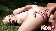 Blonde Teen Babe Ally Ann Outdoor Fucking