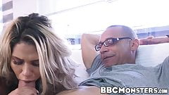 Spicy Latina enjoys big black dick deep inside her pussy