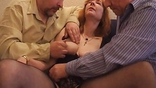 Grandparents enjoy threesome