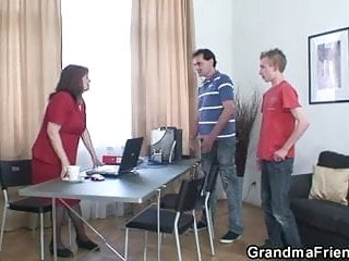 Nice mature ladys Nice surprise for old office lady