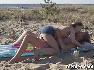 Girl turn lesbian porn Face sitting action turns intense for two teen lesbian teens