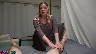 Stepmom fucks stepson to cure his sprained ankle