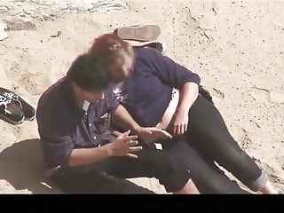 Plump women sex - Estrangeiro - hidden cam couple, plump woman sex in beach