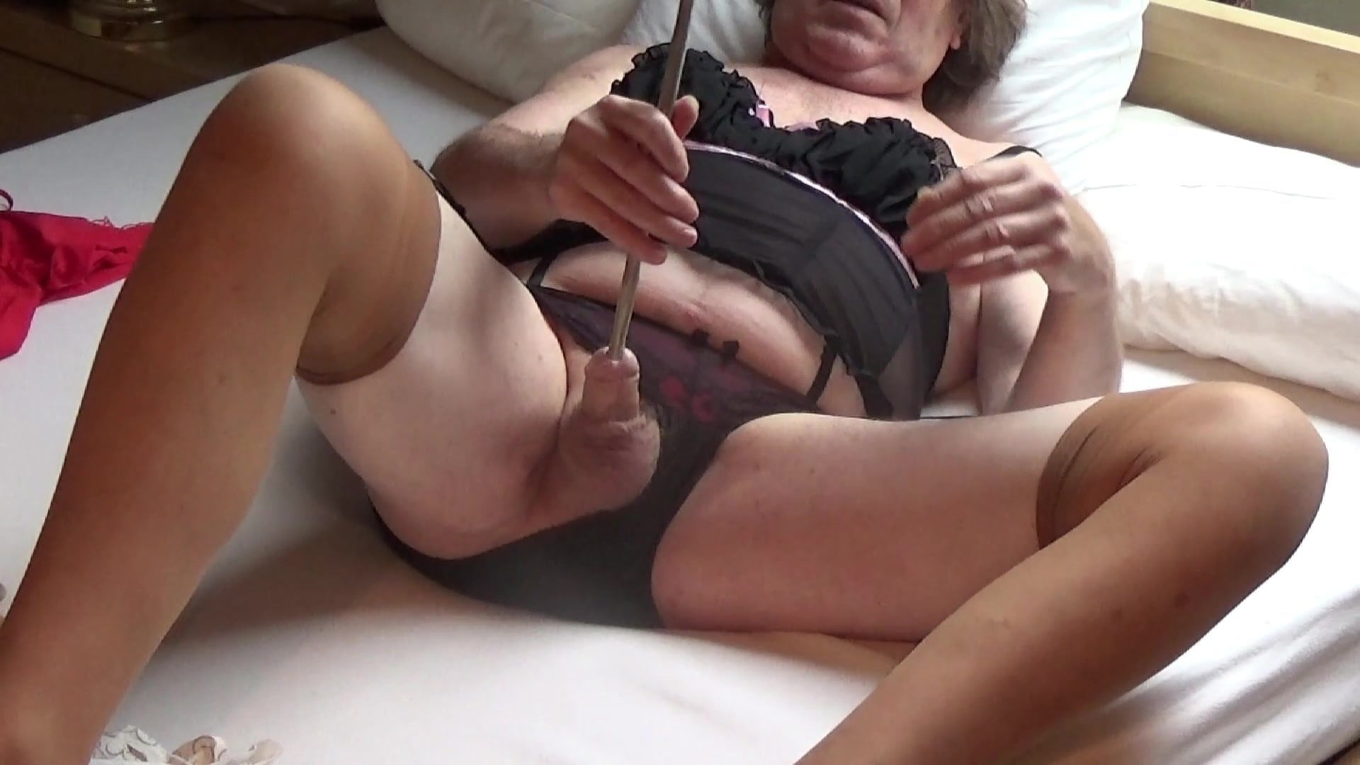 Shemale Tranny Sissy Sounding Urethral Cock Lingerie Outdoor