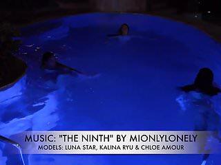 Amateur voyeur videos free nudist shower Kalina luna having fun in the pool