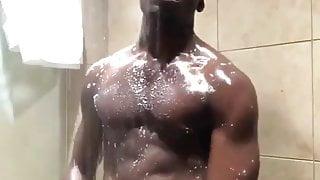 hot black huge cock in the shower