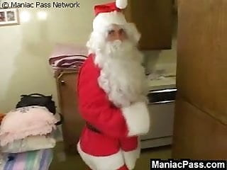Cock pleasing Santas cock pleasing fat pussy