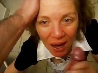 Mature women gets tit fucked Mature women gets a huge facial