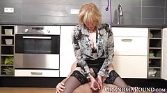 Femdom granny ties her stud up before letting him fuck her