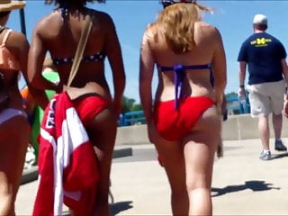 Bikini erica national usa Candid beach bikini butt ass west michigan booty rwb usa