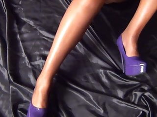 Amateur sheer lingerie Sheer purple.