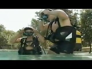 Asian fucking underwater Underwater action