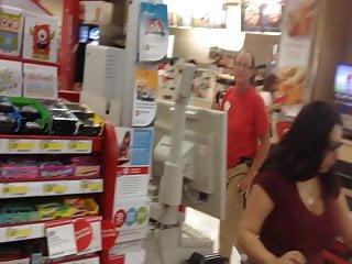 Cashier naked - Big tits cashier