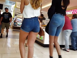 Line dancing nude Candid voyeur thick latina teen shopping and dancing in line