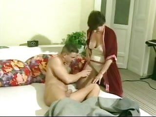Young guy fuck landlady in her house - Mature granny landlady wakes her young lodger with a fuck