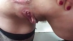 Sophie French Milf Gaping with Plug