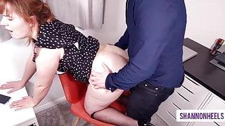 Office Slut Takes Calls Getting Ass Fucked - Shannonheels
