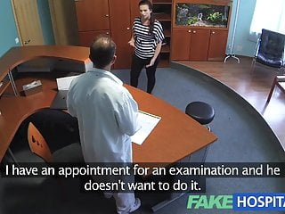 Eased into her damp pussy - Fakehospital doctor empties his sack to ease sexy patient