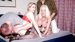 AmateurEuro - Foursome Party Sex With Two Hot GILF Ladies