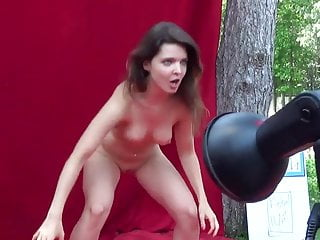 Naked public speaking - Naked public hula-hooping