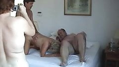Amateur Homemade Mature Foursome